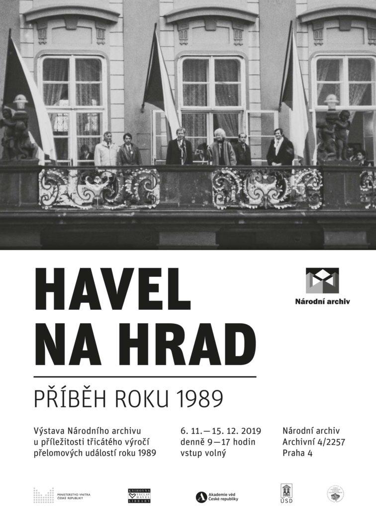Plakát k výstavě HAVEL NA HRAD