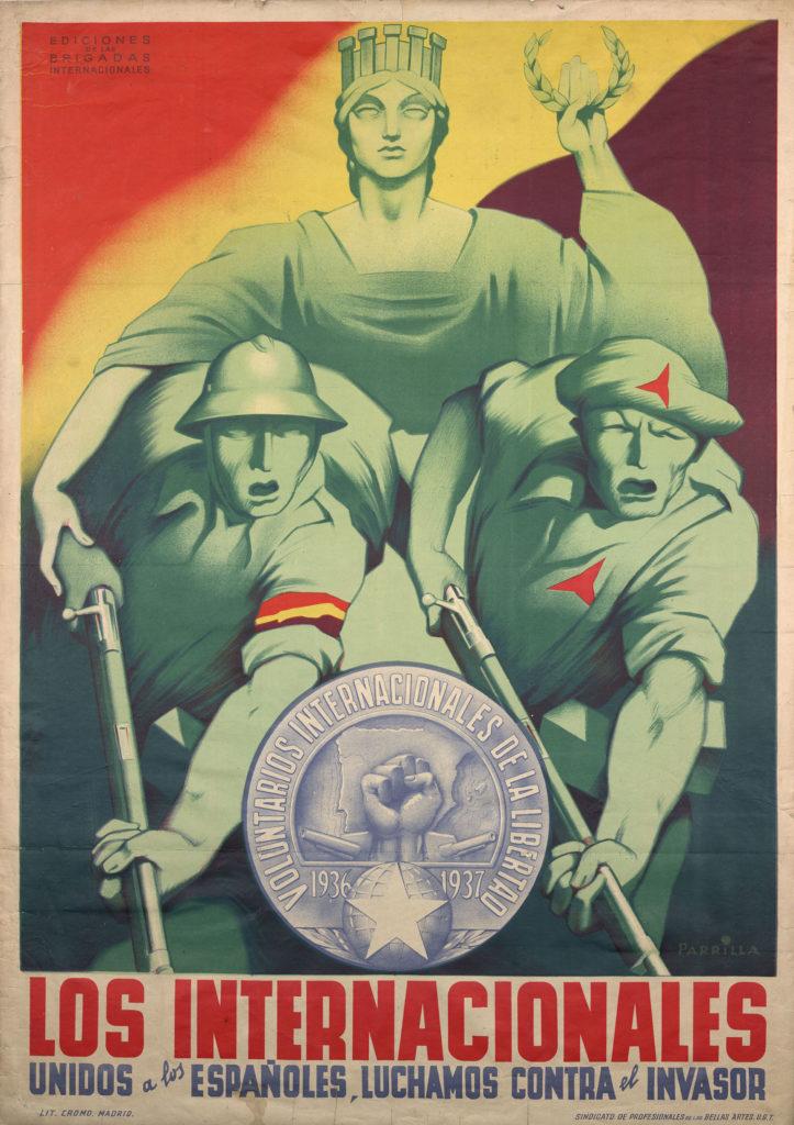 Plakáty z občanské války ve španělsku
