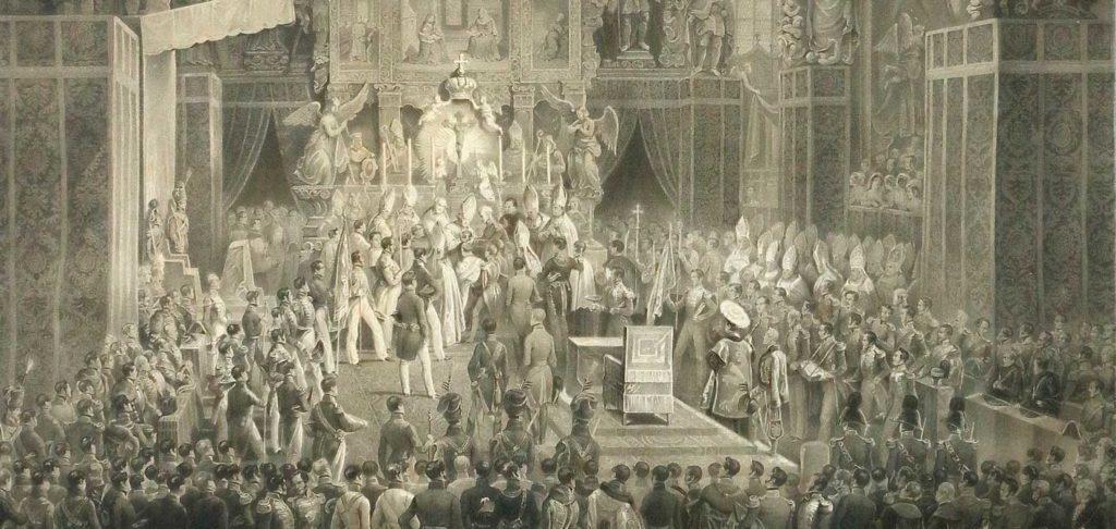 Korunovace Ferdinanda I. (V.) Dobrotivého v katedrále sv. Víta