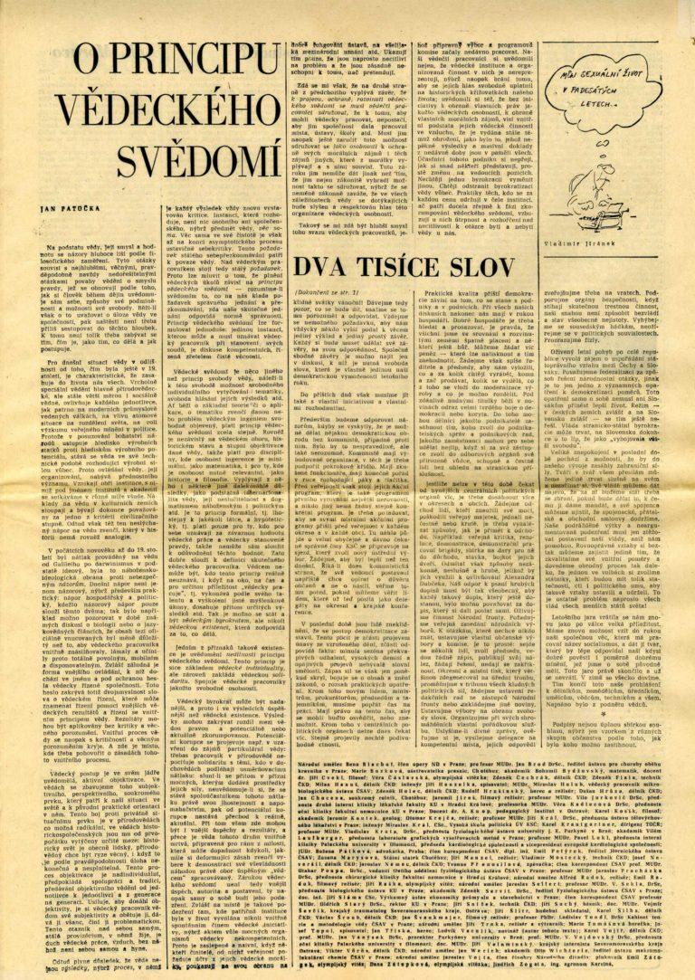 2000 slov, Literární noviny, č. 18, 27. 6. 1968