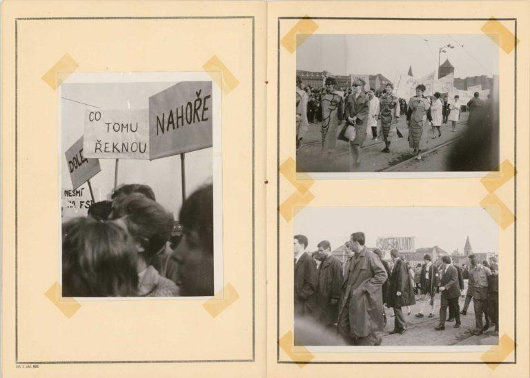 Fotodokumentace k průběhu studentského majálesu