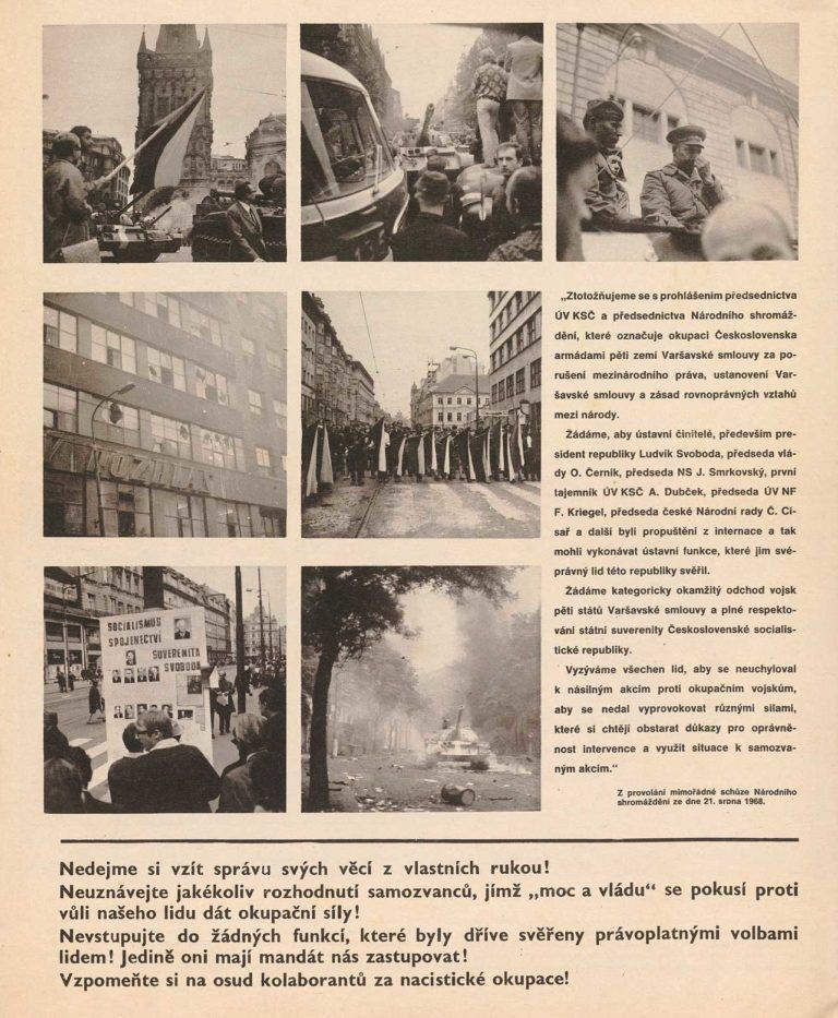 """Svět v obrazech, zvláštní vydání z 21. 8. 1968 """"Proč, Počemů"""""""