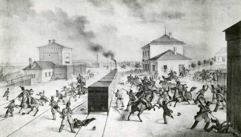 Bechovice, přepadení vlaku 1848.