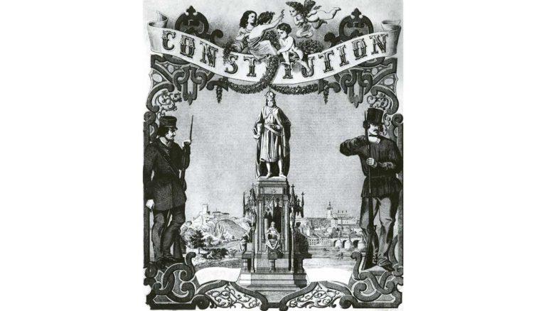 Jeden z oslavných listů vydaných po vyhlášení Konstituce.