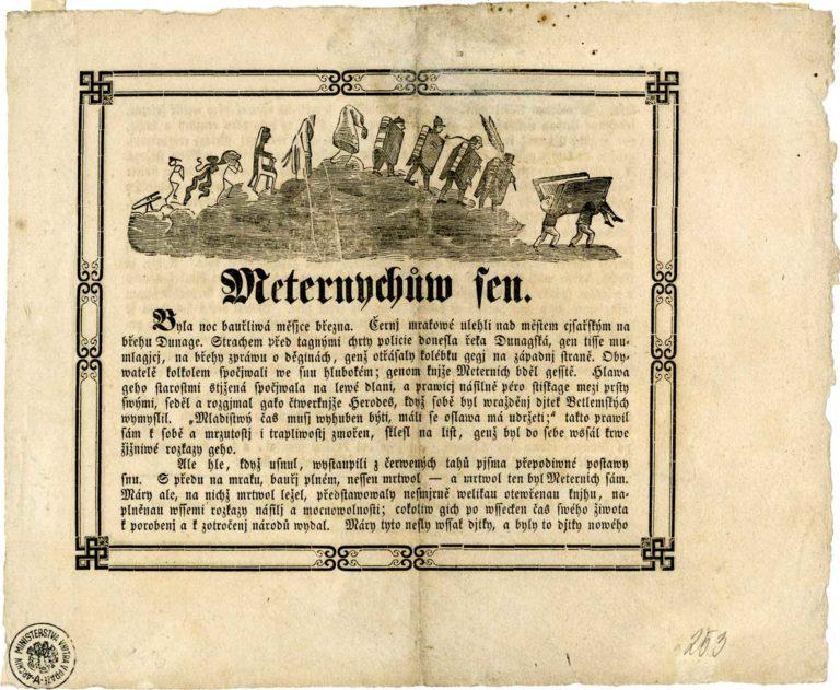 """Leták """"Metternichův sen"""""""