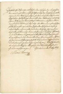 List Marie Terezie nejvyššímu českému kancléři hraběti Harrachovi o reformě úřadů politické správy, financí a soudnictví