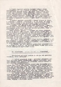 Žádost Svazu Národních jednot a Matic RČS předsedovi vlády M. Hodžovi o posouzení memoranda Okresního akčního výboru pro obranu republiky v Šumperku týkajícího se žádosti o udržení pořádku v českém pohraničí (s přiloženým memorandem).
