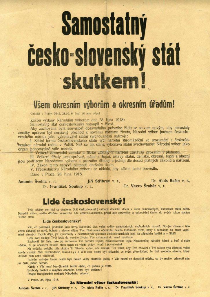 Samostatný česko-slovenský stát skutkem