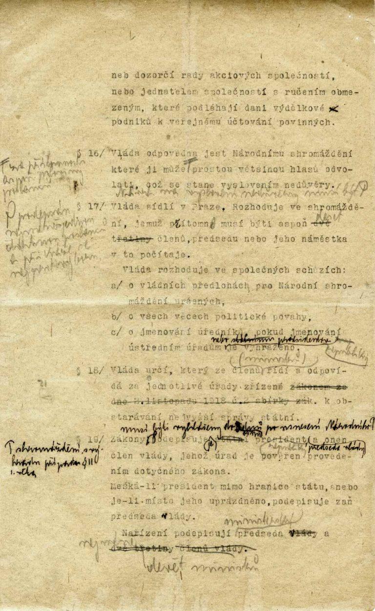 Návrh zákona oprozatímní ústavě