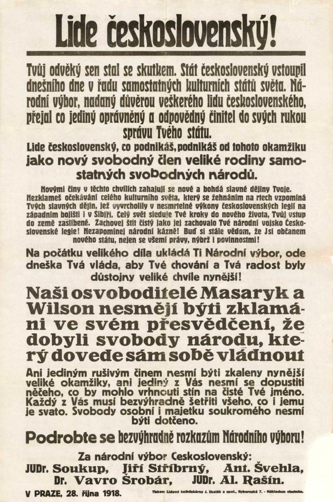 """Provolání """"Lide československý!"""""""