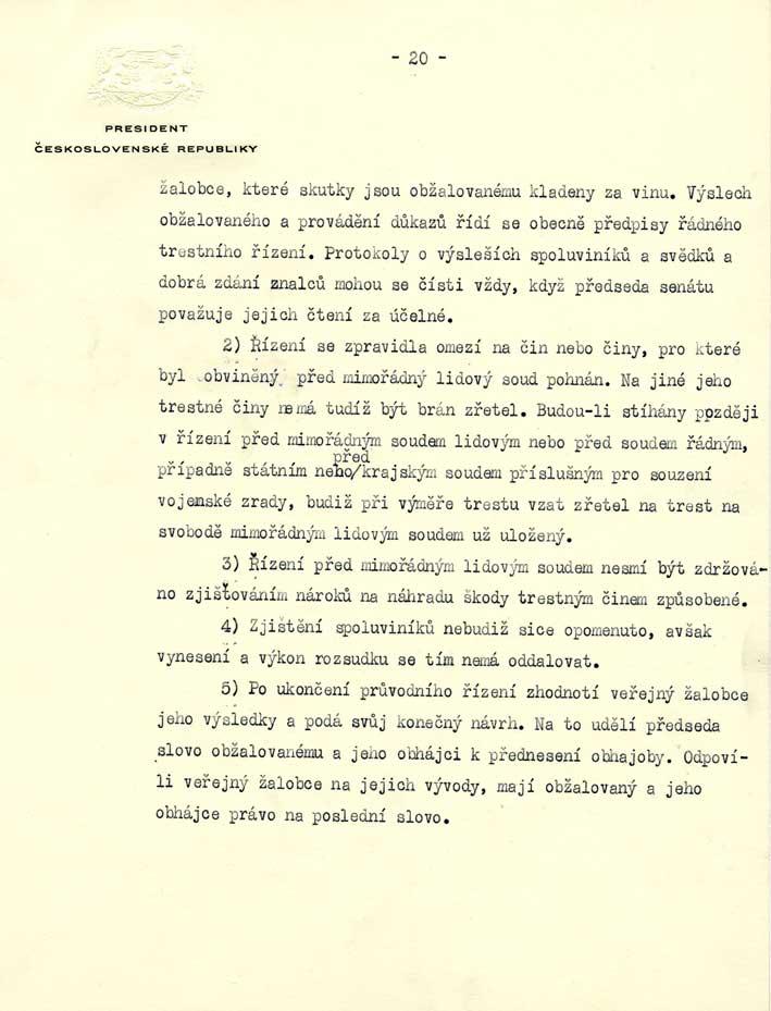 Dekret prezidenta republiky o potrestání nacistických zločinců, zrádců a jejich pomahačů a o mimořádných lidových soudech