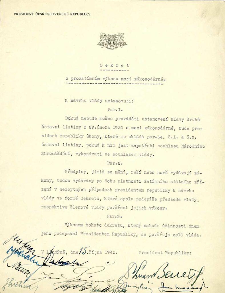 Dekret o prozatímním výkonu moci zákonodárné