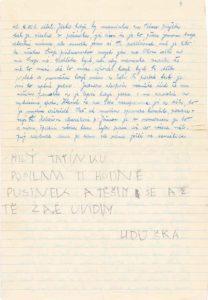 Dopis od manželky a Lidušky