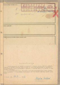 Osobní vězeňský spis Růženy Vackové
