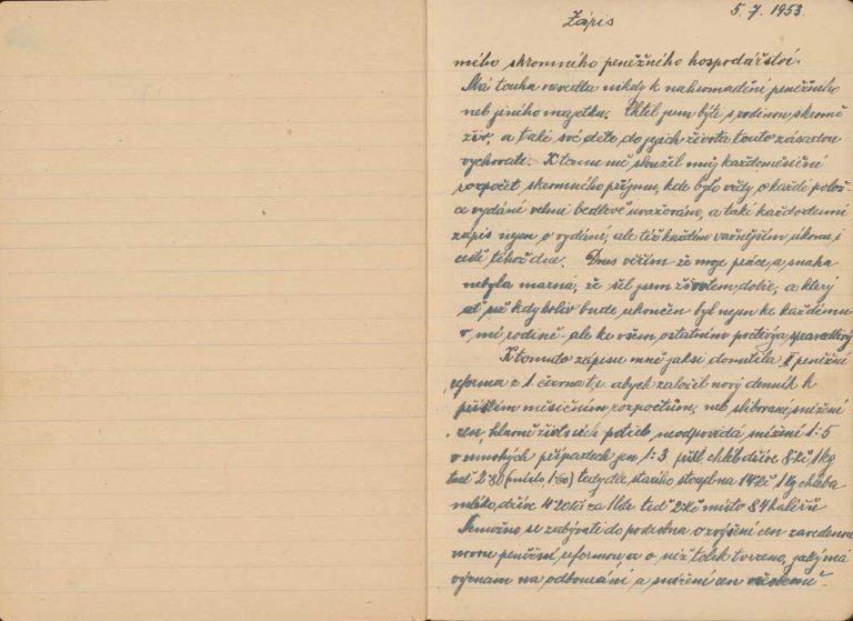 Poznámky z deníku kolínského železničáře Karla Matěny k měnové reformě