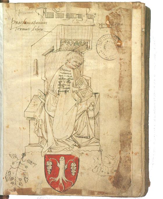 Vyobrazení místosudího a písaře desk dvorských Sezimy z Hořešovic