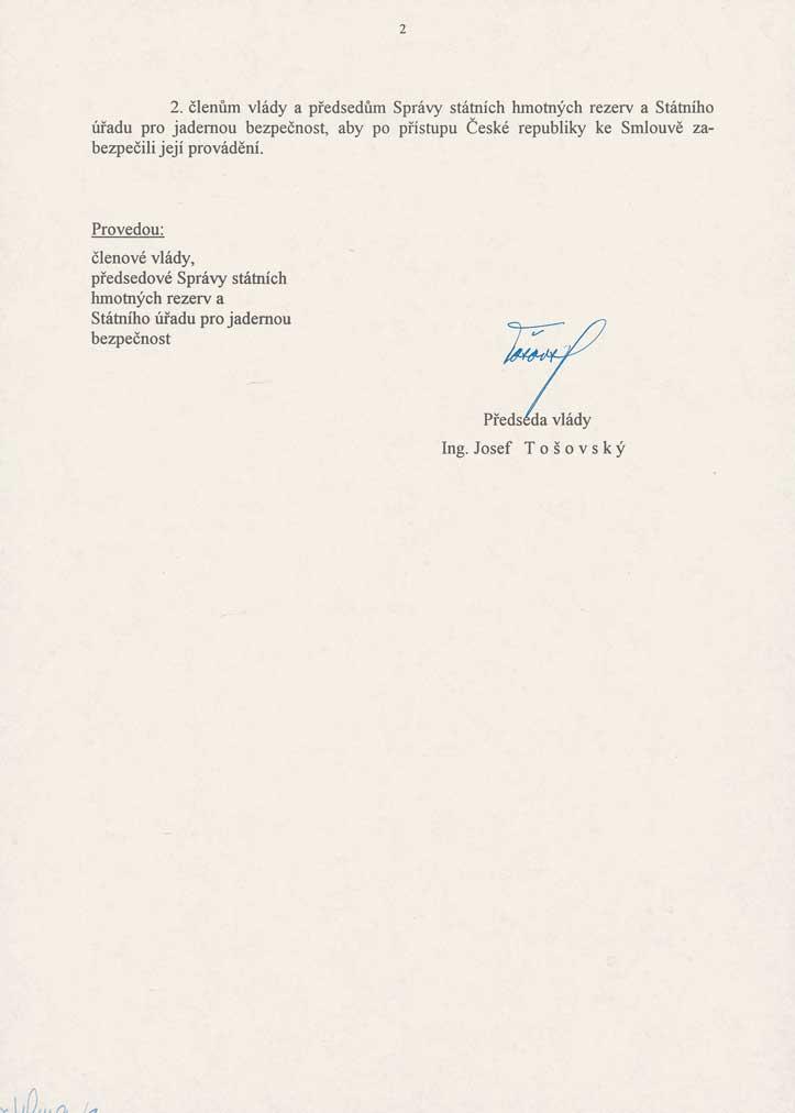 Usnesení vlády České republiky č. 37