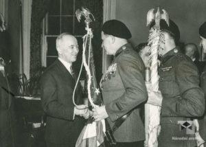 Prezident E. Beneš vítá čs. Legionáře na radnici města New Yorku, 1943