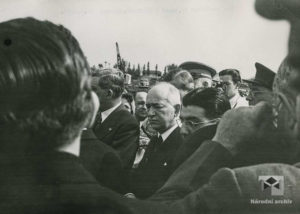 Prezident E. Beneš v Lidicích, Chicago, 1943, 22. května
