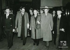 Příjezd prezidenta E. Beneše do New Yorku, Pennsylvania Station, 1943, 19. květen