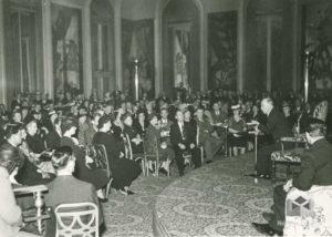 Prezident E. Beneš na recepci v hotelu Waldorf Astoria, 1943, 20. květen