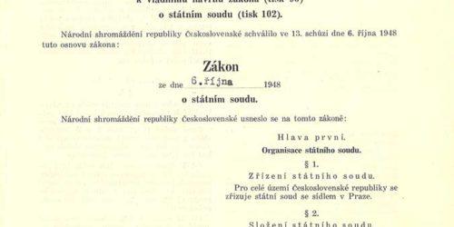 Zákon o Státním soudu č. 232/1948 Sb. z 6. října 1948
